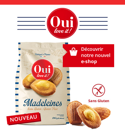 Photo marque : Oui love it ! madeleines sans gluten